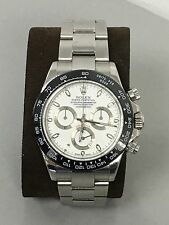 ROLEX DAYTONA CERAMIC BEZEL BLACK WITH WHITE NUMERALS  ENGRAVED
