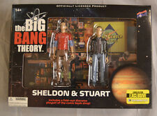 Big Bang Theory Sheldon & Stuart 2015 SDCC Comic Con Action Figure Set Diorama
