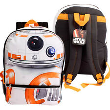 "Backpack 16"" Multi-Compartment Star Wars BB8 NEW"