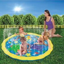 INFLATABLE TODDLER GARDEN SPRINKLE N SPLASH PLAY MAT RING WATER SPRAY POOL TOY
