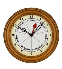 Small Contemporary Day Clock Wall DayClock Perfect for RV, Vacation Home