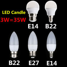 B22 3W cool White Candle Globe SMD 2835 LED Energy Saving Light Lamp