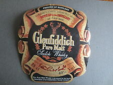 Vintage Label GLENFIDDICH Pure Malt SCOTCH WHISKY Distillery Banffshire Scotland