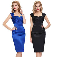 VINTAGE 1950'S RETRO WORK WIGGLE PENCIL PIN UP EVENING PARTY DRESSES