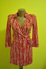 Fab DIANE von FURSTENBERG Jeanne Printed Silk Wrap Jumpsuit Dress  2US * 6 UK XS