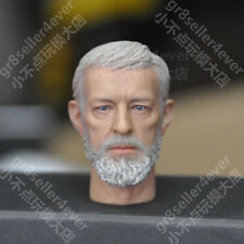 "Custom 1/6 Scale Obi-Wan Kenobi Head Sculpt For 12"" Hot Toys Star Wars Body DX07"