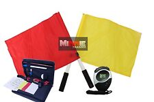 Brand New Plain Flag Set with Referee data Wallet & Digital Stopwatch (SW005)