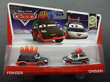 DISNEY PIXAR CARS YOKOZA CHISAKI 2 PACK 2013 SAVE 5% WORLDWIDE FAST SHIP