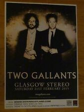 Two Gallants - Glasgow 2015 tour concert gig poster