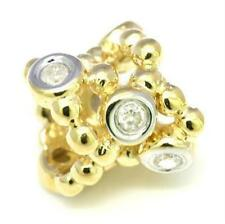 Alimo Natural Diamond 9K 9ct 375 Solid Gold Bead Charm FITS EURO BRACELETS
