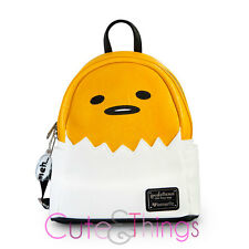 Gudetama Mini Faux Leather Backpack Loungefly Lazy Egg Bag