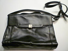 NWOT: BOTKIER Small Black Soft Leather Flap Front Convertible Bag
