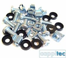 "PACK OF 10 HIFI AUDIO MUSIC RACK MOUNT M6 CAGE NUTS BOLTS WASHERS FOR 19"" RACKS"