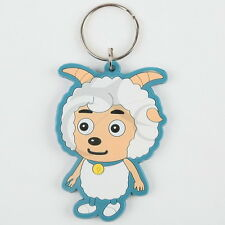 New Cute Sweet Pleasant Goat Lamb Joy Keyring Keychain Key Chain Double-Sided