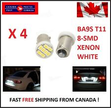 4X BA9S T11 1206 8SMD T4W H6W Led License Plate Map Dome LED Light Xenon Short
