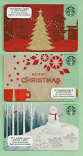 Starbucks Gift Card - Holiday Tree - Merry Christmas - Snow Angels - 2013