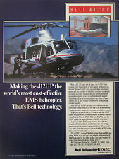 6/1991 PUB BELL HELICOPTER TEXTRON HELICOPTERE BELL 412HP EMS AMBULANCE AD