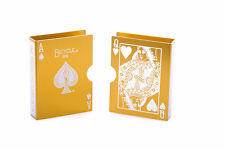 Metal Bicycle Playing Card Clip Deck Protector Case Trick Magic Predict -gold