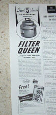 1950 vintage ad - Filter Queen vacuum cleaners Health-Mor Advert Old ADVERTISING