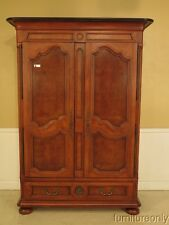 F41131: HENREDON Country French Cherry Wardrobe Armoire