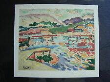 George BRAQUE Marseille L'Estaque -ORIG. PHOTOLITHOGRAPH-COA