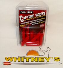 Parker Red Hot Crossbow Capture Nocks Bolt Ends - Red - 12 Pk #38-3364