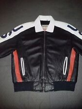 Michael Hoban-WHEREMI-Leather USA Flag Jacket-Men's-Medium-Red/White/Blue-Rare