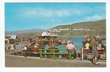 Mallaig Harbour Inverness Fishing Boats Steamer NPO Belfast Old Postcard