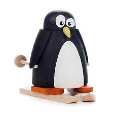 PINGUIN mit Ski NEU Erzgebirge Holz Volkskunst Figur Tiere Schnee Eis Winter