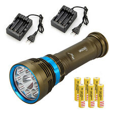 NEW Waterproof 100m 22000Lm 9x L2 LED Scuba Dive Flashlight Torch Lamp+6x18650