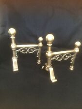 ANTIQUE VINTAGE VICTORIAN FIRE DOGS FIREPLACE TOOL REST ANDIRON