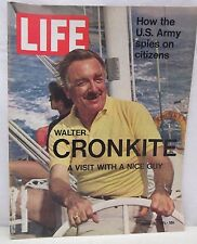 Life Magazine March 26 1971 Walter Cronkite How the U.S. Army Spies on Citizens