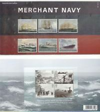 Royal Mail Merchant Navy Presentation Pack number 489 with mini sheet mint cond