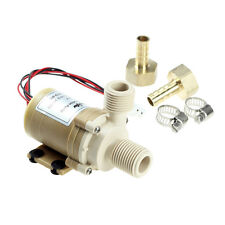 Solid&Quiet 12V DC Solar 212°F Hot Water Circulation Pump Brushless Motor 9.8FT