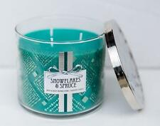 Bath & Body Works White Barn [ SNOWFLAKES & SPRUCE ] 14.5 oz jar candle 3 wick