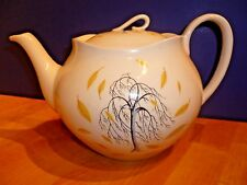 Rare MCM Johnson Bros Tea Pot Tree with Swirlng Leaves