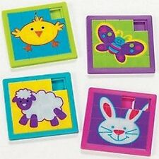 Pack of 4 - Plastic Easter Slide Puzzles - Party Bag Fillers