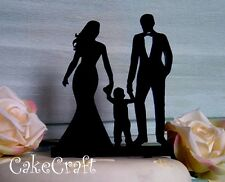 Acrylic wedding couple silhouette Mr and Mrs family, cake topper decoration