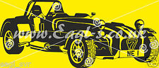 Vinyl wall art Kit car, caterham, Westfield and lotus 7 in the title. very large