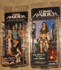 "LARA CROFT TOMB RAIDER - NECA Player Select 7"" figure lot - Anniversary & Legend"