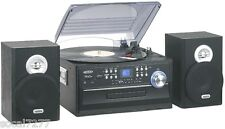 Turntable Record Player MP3 CD R/RW Cassette Radio Stereo Home Audio System