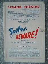 1955 Theatre Programme- SAILOR BEWARE a Comedy play-P King,F Cary, 16 Feb