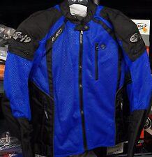Joe Rocket Mens mesh textile Phoenix ion ultra reflective jacket XXL 2X BLUE