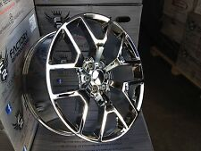 "Set (4) 24"" Chrome GMC 1500 Sierra Denali Tahoe Chevy Silverado Wheels Rims"