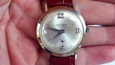 Vintage JULES JURGENSEN Wrist Watch 14k WHITE GOLD DIAMOND DIAL WATCH