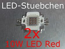 2x 10w High-Power LED rojo