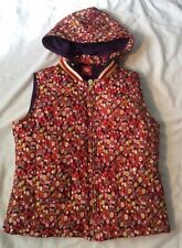 OILILY womens Size 38 Down Filled Hooded Puffer Hooded Vest Zipper In Front