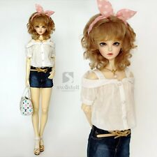 1/3 8-9 7-8 Dal Pullip BJD SD MSD YOSD dollfie Doll White T-shirt toy clothe s02