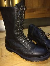 Dr Martens Edmund 13 hole /eye boots UK 8 eu 42 black