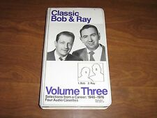 Classic Bob & Ray: Volume 3,Sel.from 1946-1976 (1992,4 Cassette Tapes)Radio Show